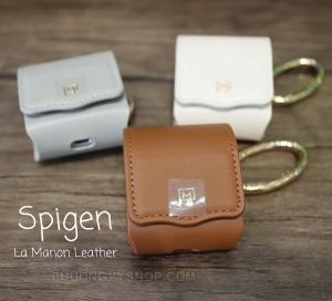 Ốp da Spigen LA MANON Leather Airpod 1/2 (chính hãng)